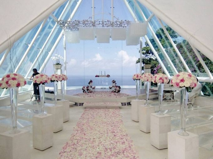 our chapel and water wedding decor by Jc Florist Bali - 009