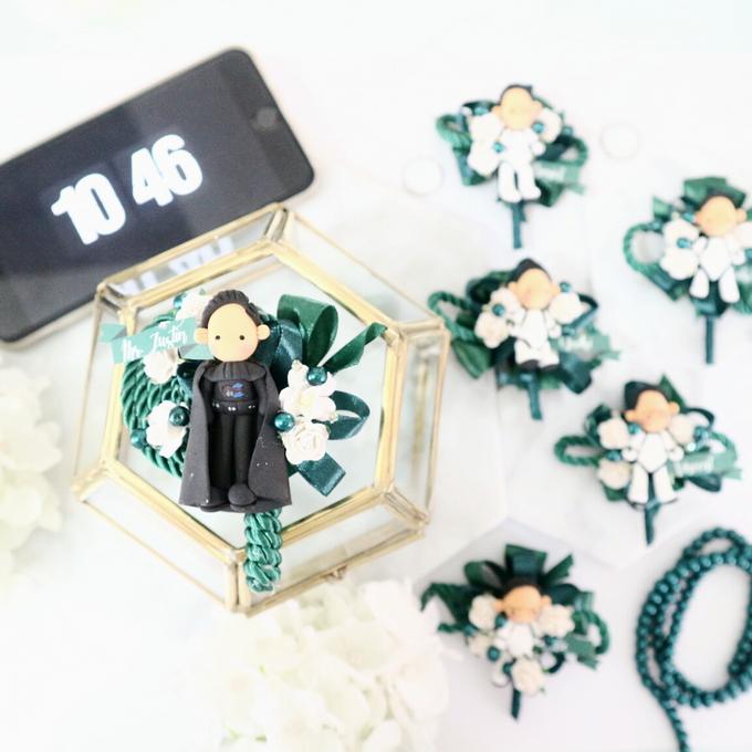 Elegant Colour Corsage And Wristband by de hijau hejo - 007