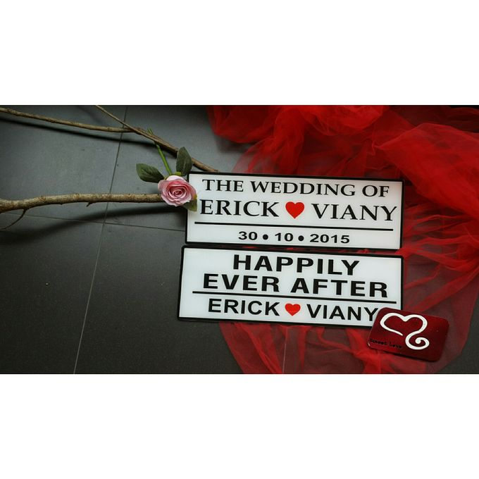 Wedding Car Plate by Sweetlovecollection - 016