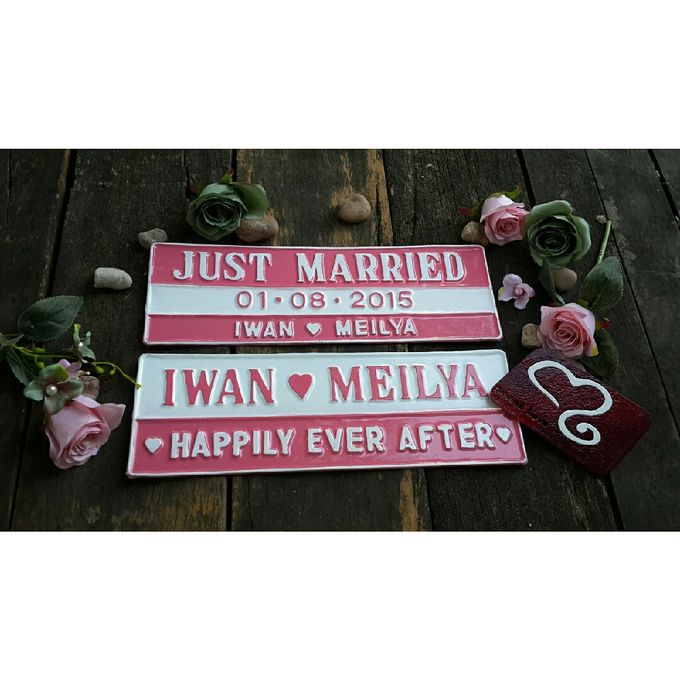 Wedding Car Plate by Sweetlovecollection - 031