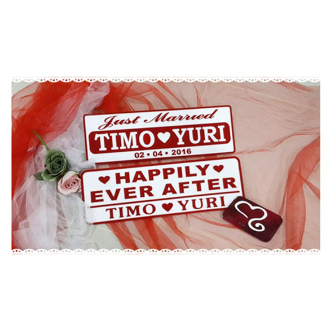 Wedding Car Plate by Sweetlovecollection - 001