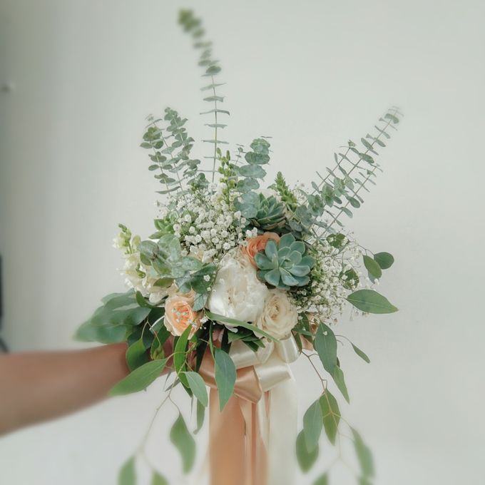 Natural Romantic In Green,white And Apricot by magical blossoms - 006