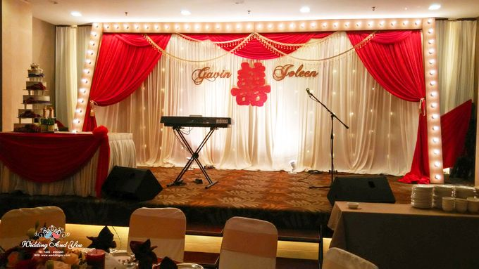 Stage Backdrop Design by Wedding And You - 016