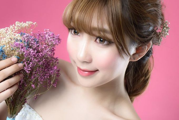Natural Korean Bridal Look by Beautistylebykoreen - 001