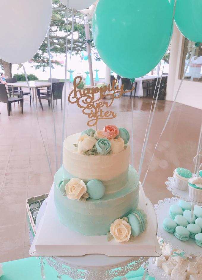 Tiffany wedding dessert table by Shangri-La Hotel Singapore - 001