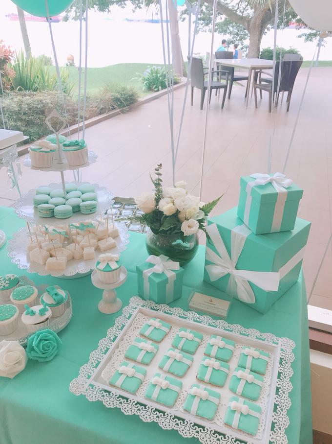 Tiffany wedding dessert table by Shangri-La Hotel Singapore - 002