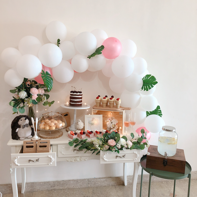 Forest Dessert table with organic balloons by Yoyosummer - 001