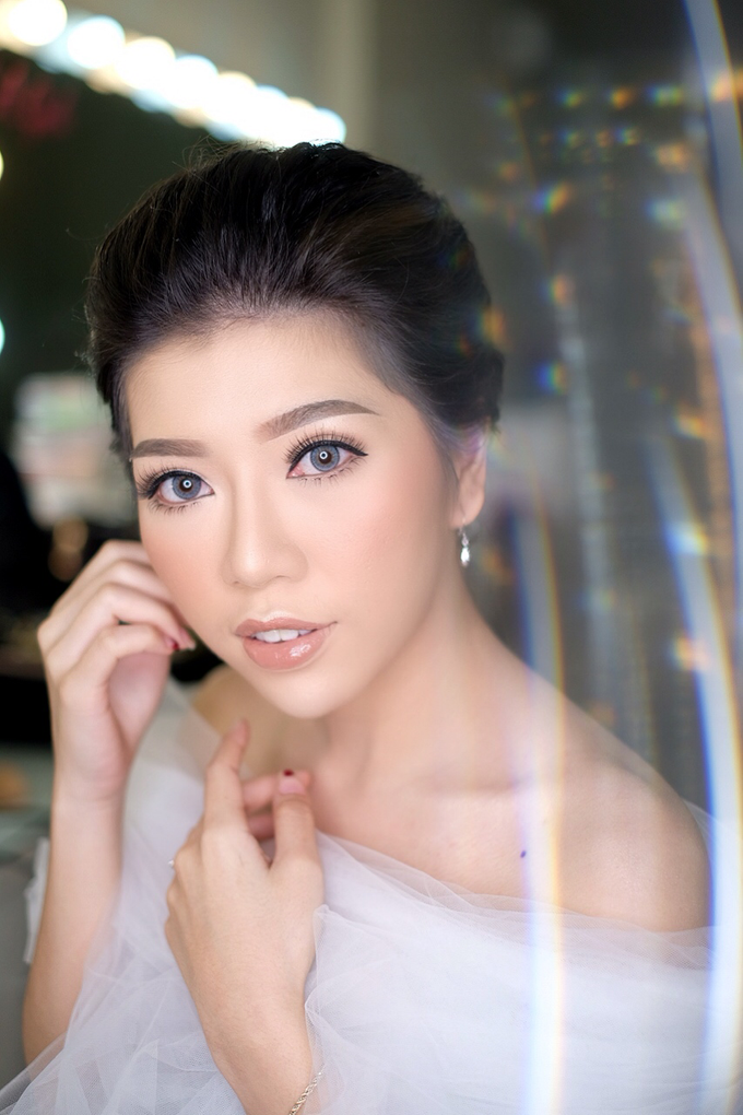 Makeup & Hairdo Engagement for Ms. Cynthia  by makeupbyyobel - 003