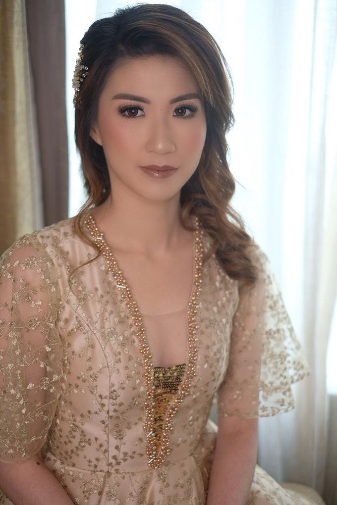 Makeup & Hairdo Sister of the Bride ( Mrs. Vallen) by makeupbyyobel - 006