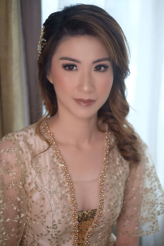 Makeup & Hairdo Sister of the Bride ( Mrs. Vallen) by makeupbyyobel - 008
