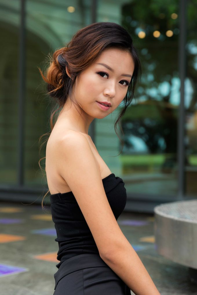 Simple Chic Makeup and Hairstyles Portrait Fashion Photoshoot by Sylvia Koh Makeup and Hairstyling - 005