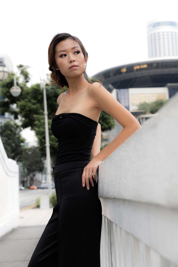 Simple Chic Makeup and Hairstyles Portrait Fashion Photoshoot by Sylvia Koh Makeup and Hairstyling - 007