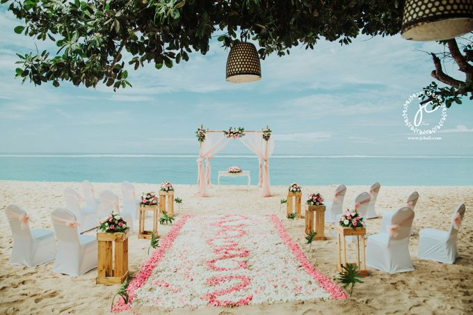 our chapel and water wedding decor by Jc Florist Bali - 026
