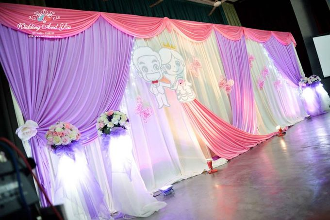 Stage Backdrop Design by Wedding And You - 035
