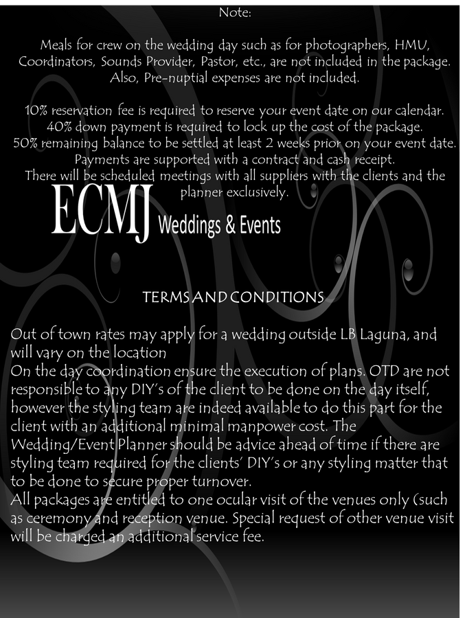 Complete Wedding Package by ECMJ Wedding Planner & Event Management Office - 005