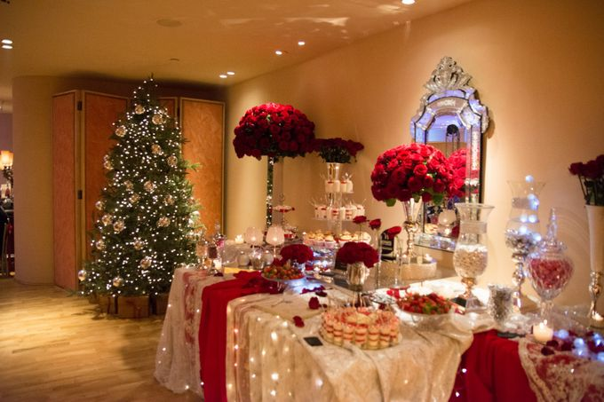 Luxury Christmas Red & Gold Wedding by Diamond Events - 035