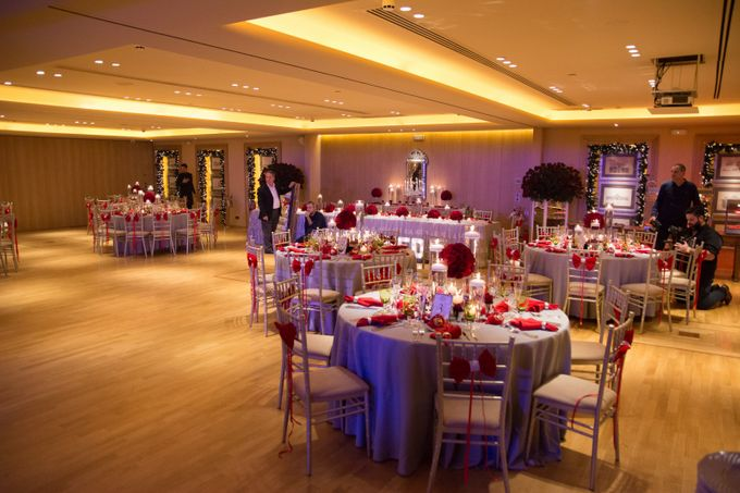 Luxury Christmas Red & Gold Wedding by Diamond Events - 037