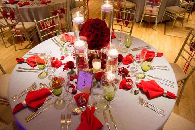 Luxury Christmas Red & Gold Wedding by Diamond Events - 038