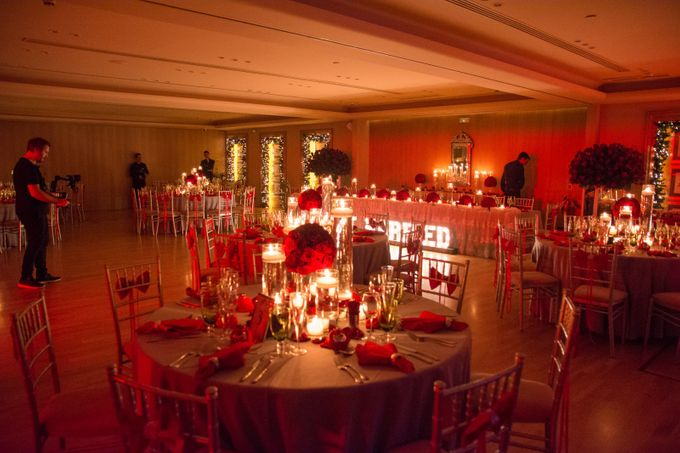 Luxury Christmas Red & Gold Wedding by Diamond Events - 040
