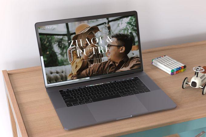 WEDDING WEBSITE - ZHAQI & PUTRI by Our Days & Co - Wedding Website Design - 001