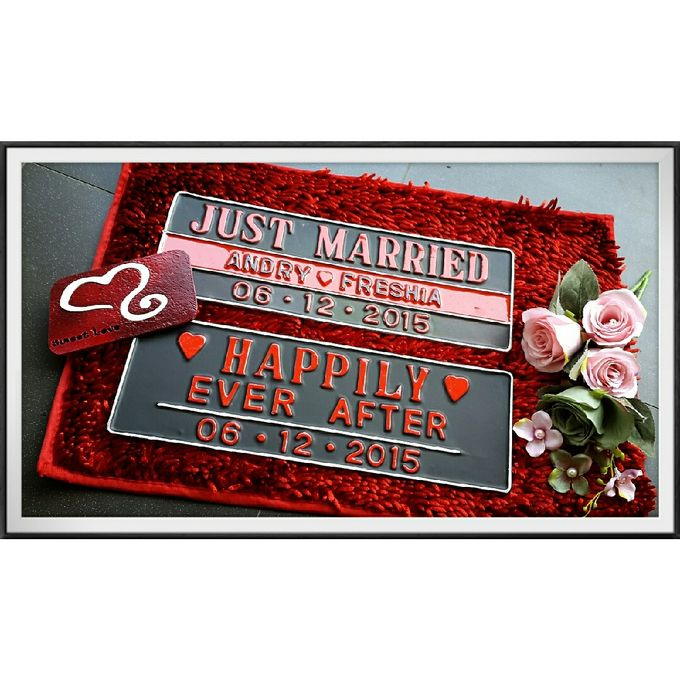 Wedding Car Plate by Sweetlovecollection - 032