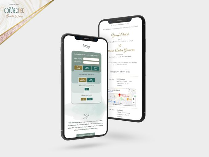 A luxury wedding reception in Bandung, using advanced technology to send digital invitation, took RSVP confirmation easily, put guests into table area by Connectied Virtual Wedding - 003