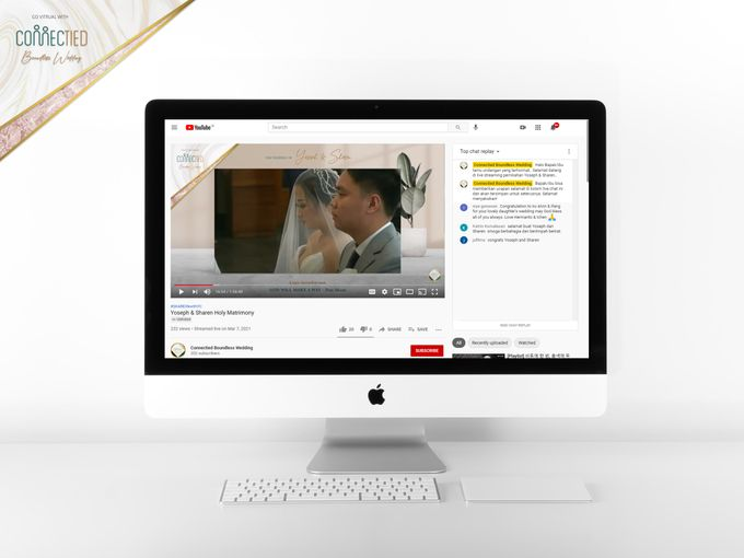 A luxury wedding reception in Bandung, using advanced technology to send digital invitation, took RSVP confirmation easily, put guests into table area by Connectied Virtual Wedding - 004