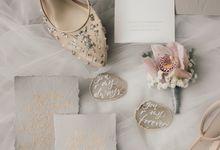An Elegant Timeless Blush and Rose Gold Arrangement by Bali Wedding Atelier