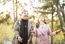 Nami Island Autumn Engagement by Foreveryday Photography