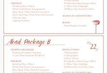 Pricelist Wedding Package by Kembang Peningset