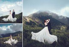 Albertus & Roweina Prewedding at Cibodas by GoFotoVideo