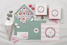 FLORAL SUMMER MOOD INVITATION by ES PROUD INVITATIONS