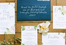 Spring Has Sprung - Wedding Invitation Style Shoot by Meilifluous Calligraphy & Design