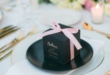 BLACK LUXURY FAVOR BOX by ES PROUD INVITATIONS