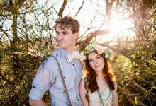 Romantic bohemian engagement shoot by Hilary Cam Photography
