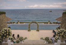 Greenery Indoor Wedding Decoration by Bali Izatta Wedding Planner & Wedding Florist Decorator