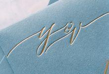 Sea & Sand Invitation Suite by Veronica Halim Calligraphy