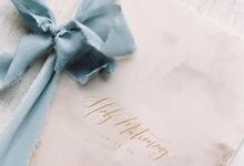 Sea & Sand Invitation Suite by Veronica Halim Calligraphy