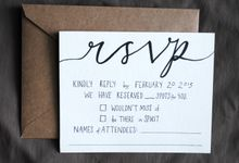 Rustic Blackberry Wedding Invitations by Blue Laurel Paper Company
