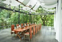 Minangkabau Traditional wedding set up at The Glass House by Tirtha Bridal