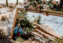 Wedding Ceremony Beach Front by Bali Izatta Wedding Planner & Wedding Florist Decorator