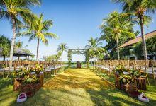 Bali Beachfront Colorful Rustic Wedding by Bali Izatta Wedding Planner & Wedding Florist Decorator