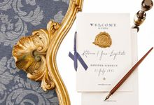 Katerina & Jean Baptiste Wedding Stationery by Atelier Invitations
