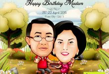 Premium Caricature for Gift by haeru Animation and Caricature