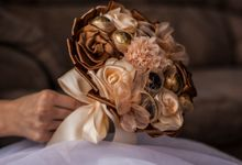Chocolate Bridal Brooch Bouquet by Marini Bouquets