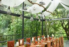 Minangkabau Traditional wedding set up at The Glass House by Tirtha Bali