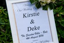 Deke & Kirstie by Bali Exotic Wedding Organizer