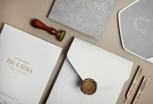 Classic Elegant Wedding Invitation by Jessica Patricia