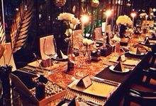 A Gatsby Themed Dinner Party by Handkerchief