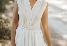 Sisca and Her Simple White Dress by Charlotte Sunny